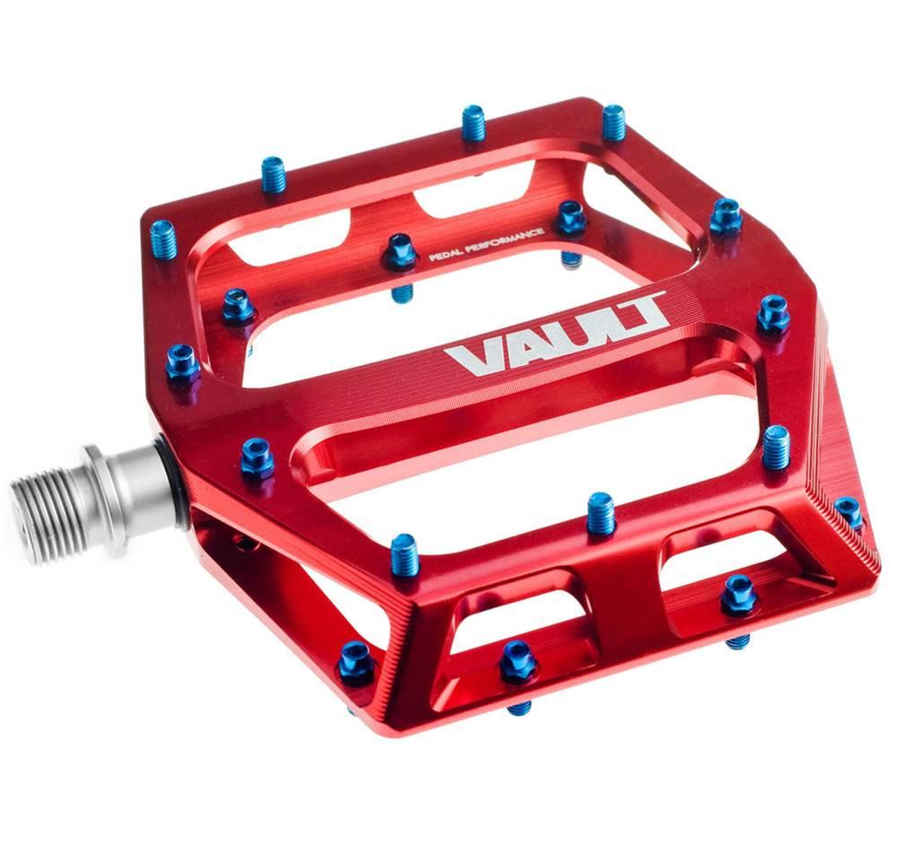 """DMR DMR Vault Pedals, 9/16"""" Alloy Platform Red"""