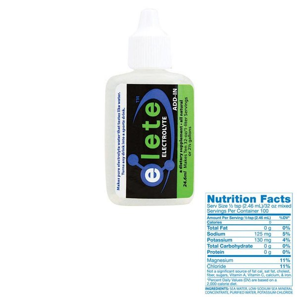 Elete Electrolyte Drops Countertop Display for 24.6ml Pocket Bottle: Box of 12 single