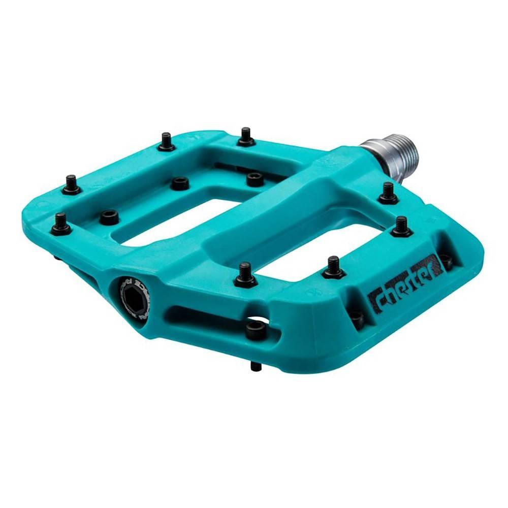 "RaceFace RaceFace Chester Composite Platform Pedal: 9/16"" Turquoise"