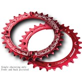 RaceFace Race Face Narrow-Wide Chainring: 104BCD, 34t Red