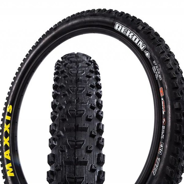 "Maxxis Maxxis Rekon Tire 27.5+ x 2.80"" 120tpi Triple Compound EXO Casing Tubeless Casing, Black"