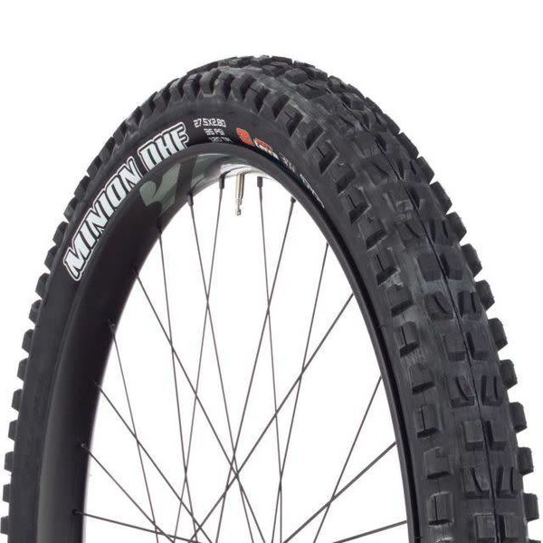 "Maxxis Maxxis Minion DHF 27.5x2.30"" Tire 120tpi, 3C Maxx Terra Compound, Double Down Casing, Tubeless Ready, Black"