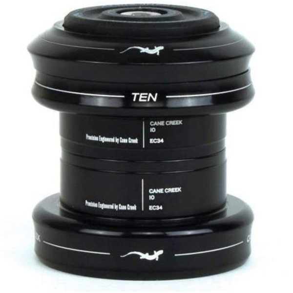 Cane Creek Cane Creek 10 Series Complete Headset, EC34/28.6mm Upper and EC34/30.0mm Lower, Black