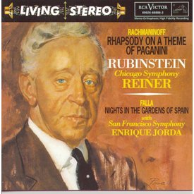 CD Rachmaninoff: Rhapsody on a Theme of Paganini, De Falla: Nights in the Gardens of Spain, et al., Reiner/Jorda/Rubinstein/CSO/SFSO