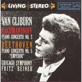 CD Rachmaninoff: PC 2, Beethoven: PC 5, Reiner/Van Cliburn/CSO