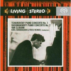 SACD Tchaikovsky: PC 1, Rachmaninoff: PC 2, Kondrashin/Reiner/Van Cliburn/RCA/CSO