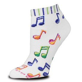 Socks - Women's Psychedelic Notes, Ankle
