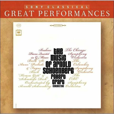 CD Schoenberg: Transcriptions, Craft/CSO/Columbia/CBC