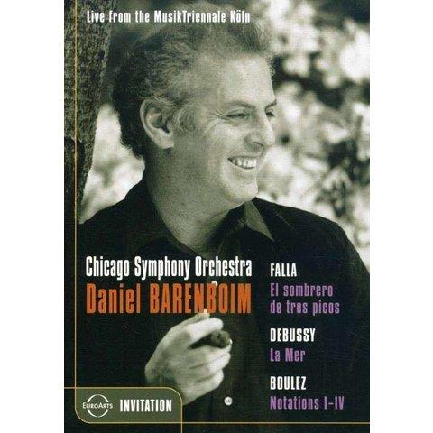 DVD Falla: El sombrero de tres picos, Debussy: La Mer, Boulez: Notations I-IV, Barenboim/Matos/CSO