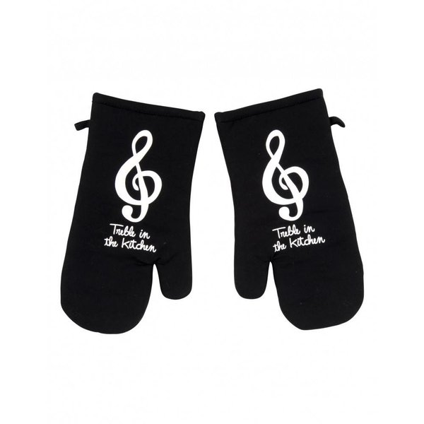 Treble in the Kitchen Oven Mitt Pair