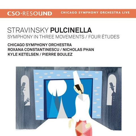 CD Stravinsky: Pulcinella, Symphony in Three Movements, Four Etudes, Boulez/CSO