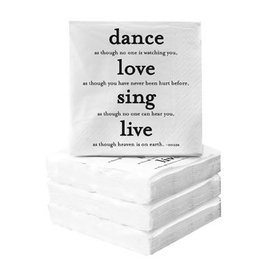 Dance, Love, Sing Cocktail Napkin