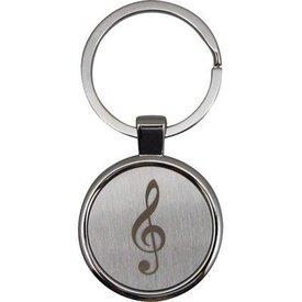 Round Treble Clef Keychain