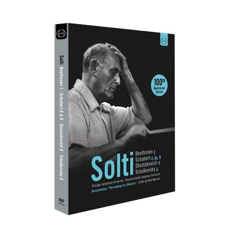 DVD Beethoven: Sym. 1, Schubert: Sym. 6 & 8, Shostakovich, Sym. 9, Tchaikovsky: Sym. 6, Solti/CSO/Bavarian