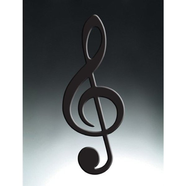 Black Treble Clef Wall Ornament