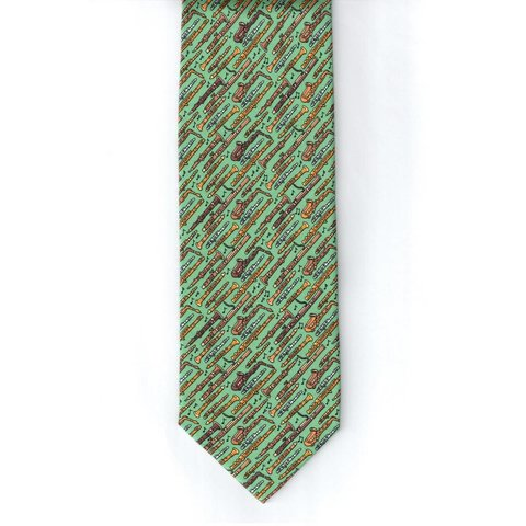 Mighty Woodwinds Tie, Sage Green