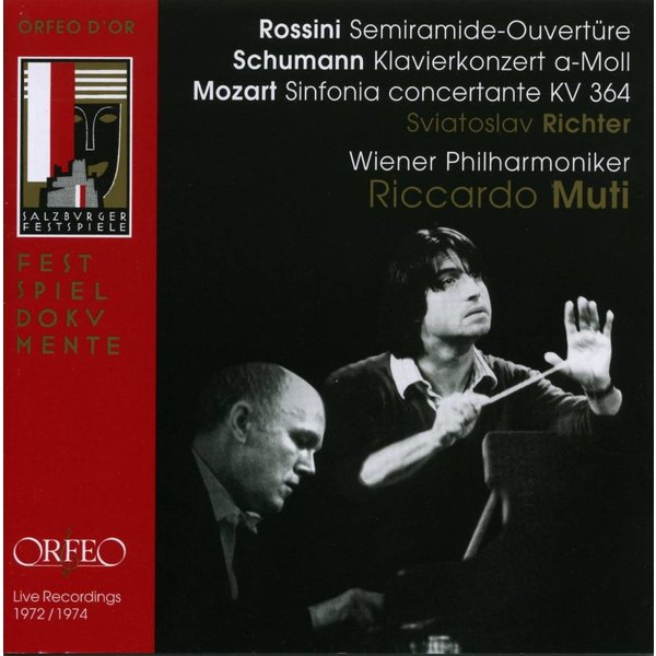 CD Rossini: Semiramide Overture, Schumann: PC, Mozart: Sinfonia concertante, Muti/Richter/VPO
