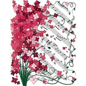 Floral Sheet Music Boxed Notes