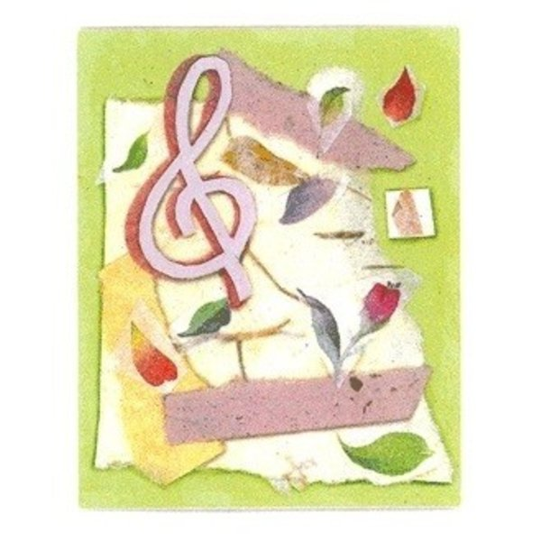 Floral Treble Clef Boxed Notes