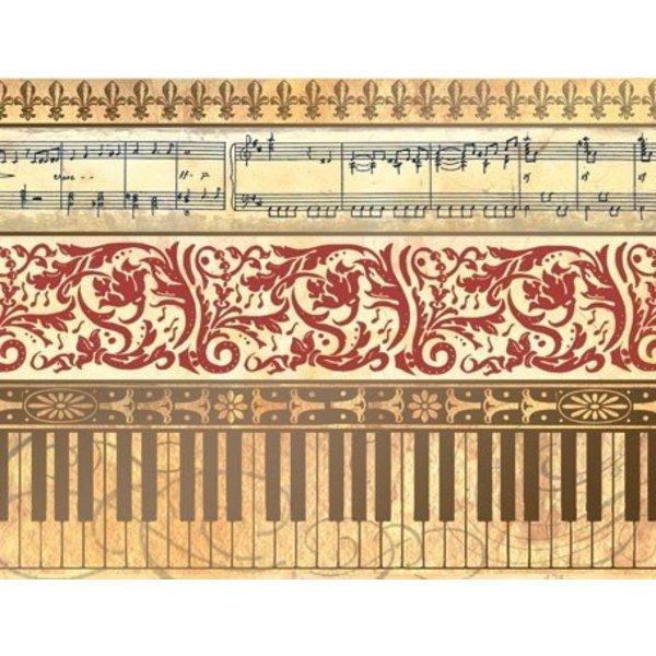 Boxed Notes - Piano Keys & Music Notes
