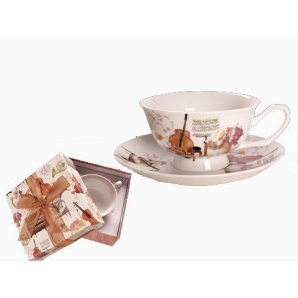 Instrument Cup & Saucer Set in Matching Gift Box