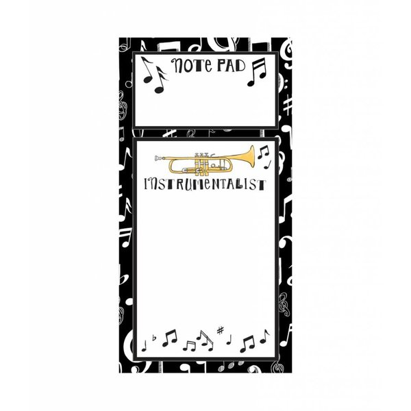 Notepad - Music 2-Note List, Magnetic