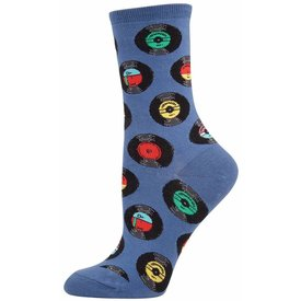 Socks - Women's Vinyl Records, Periwinkle