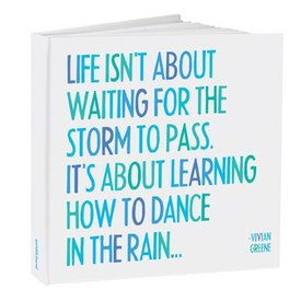 Journal Dance in the Rain Hardcover