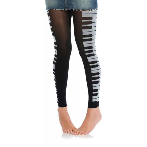 Tights - Women's Piano (Footless)