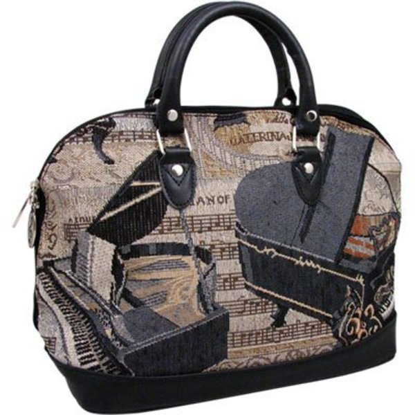 Piano Tapestry Structured Handbag