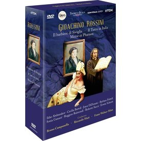 DVD Rossini: Il barbiere di Siviglia, Il Turco in Italia, Moise et Pharaon, Campanella/Muti/Welser-Most/Opera nationale de Paris/Zurich Opera House/Teatro degli Arcimboldi