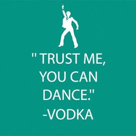 Trust Me You Can Dance Beverage Napkin