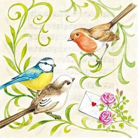 Singing Birds Napkins