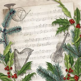 Christmas Song Napkins