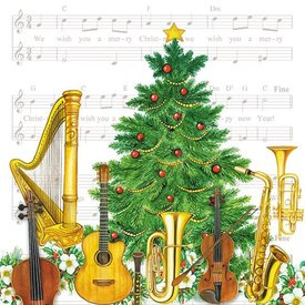 Christmas Instruments Napkins
