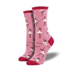 Socks - Women's Ballet People Dusty Pink