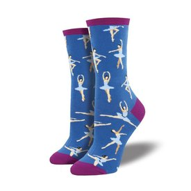 Socks - Women's Ballet People Deep Periwinkle