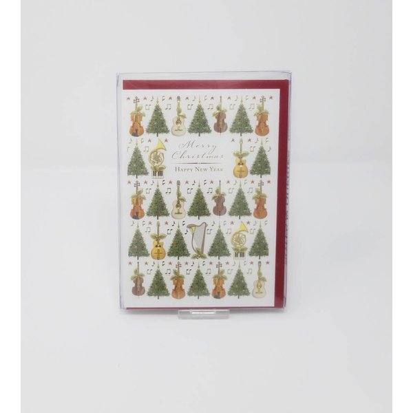 Christmas Trees and Instruments Christmas Cards