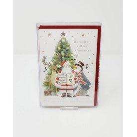 Caroling Santa Claus Christmas Cards
