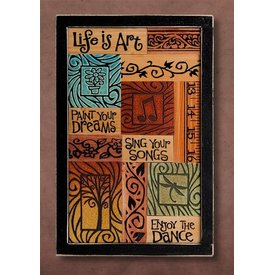 """Life is Art..."" Framed Collage"