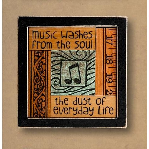"""Music washes from the soul..."" Framed Collage"