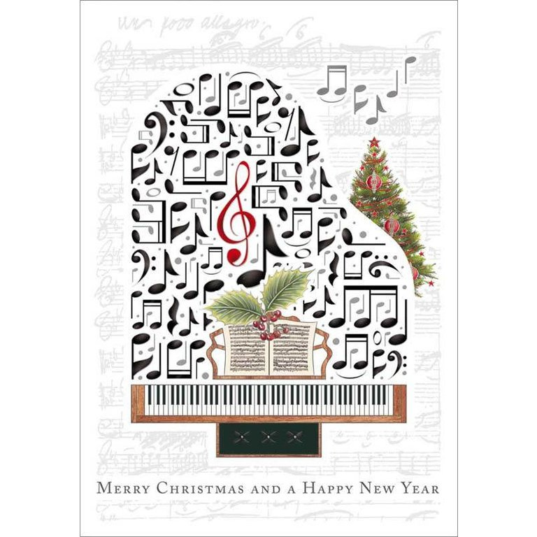 Symphony Store - Boxed Notes - Embossed Piano Christmas Cards - The ...