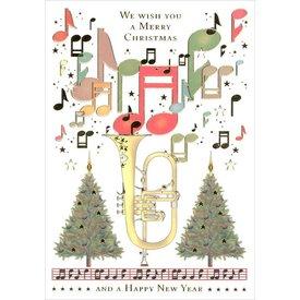 Festive Flugelhorn Christmas Cards