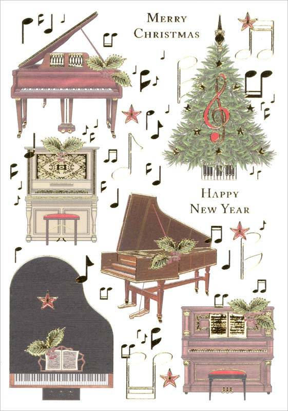 keyboard collage christmas cards - Collage Christmas Cards