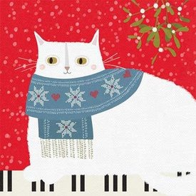 Cat on Keyboard Christmas Cards