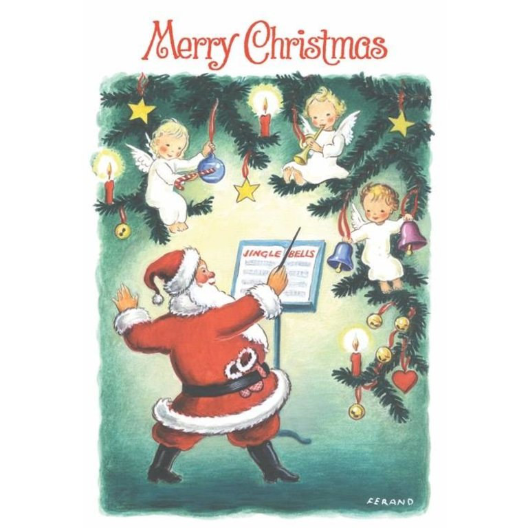 Symphony Store - Boxed Notes - Santa Conducting Angels Christmas ...