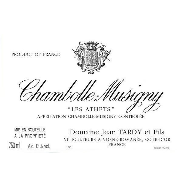 2012 Jean Tardy Chambolle Musigny Les Athets 750ml