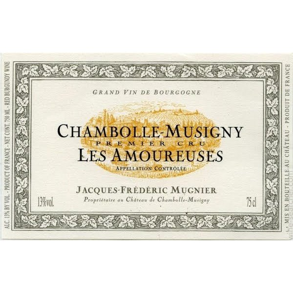2014 JF Mugnier Chambolle Musigny 1er Les Amourses 750ml