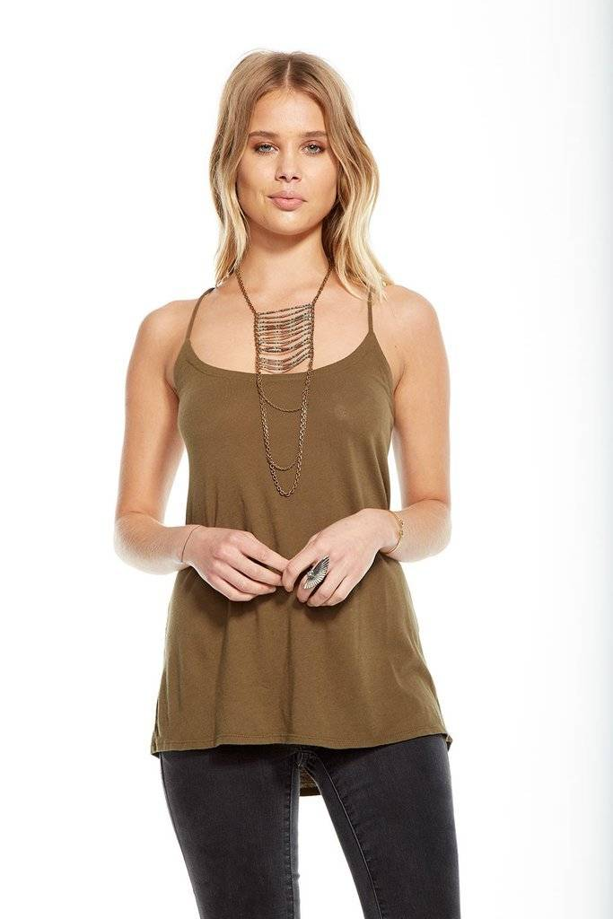 Chaser Criss Cross Tie Cami