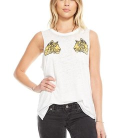 Chaser Hi Low Tigers Muscle Tee